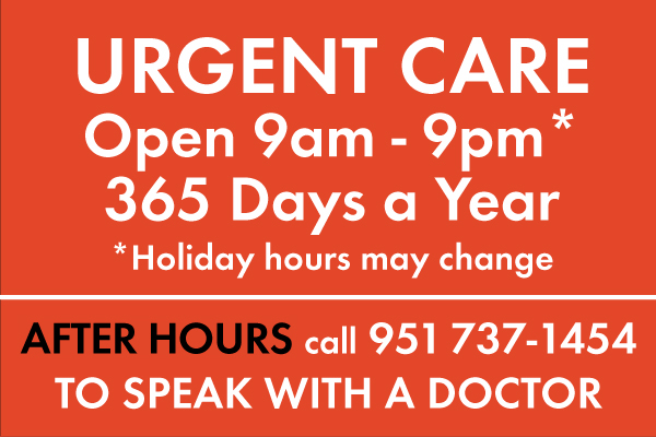Citrus Valley – Urgent Care Hours